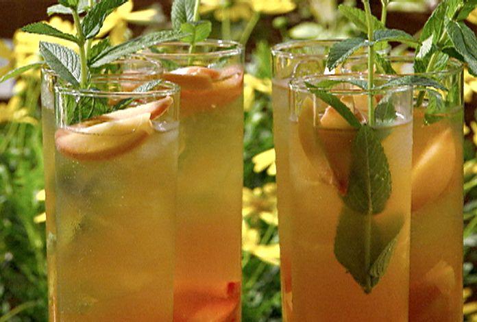 Peachy Green Tea Cooler Recipe : Michael Chiarello : Food Network ...