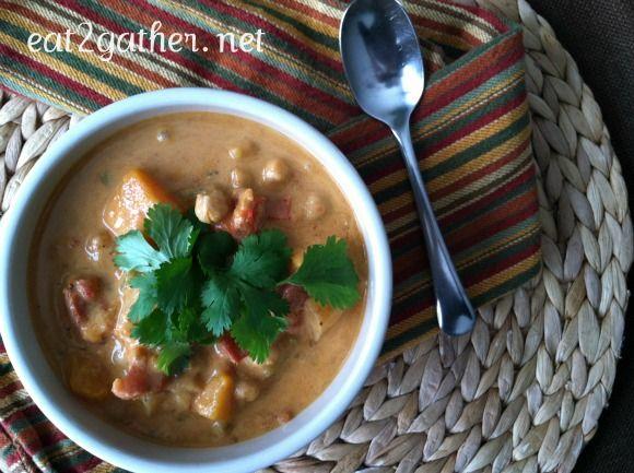 Moroccan Coconut Chickpea Soup | Soup | Pinterest