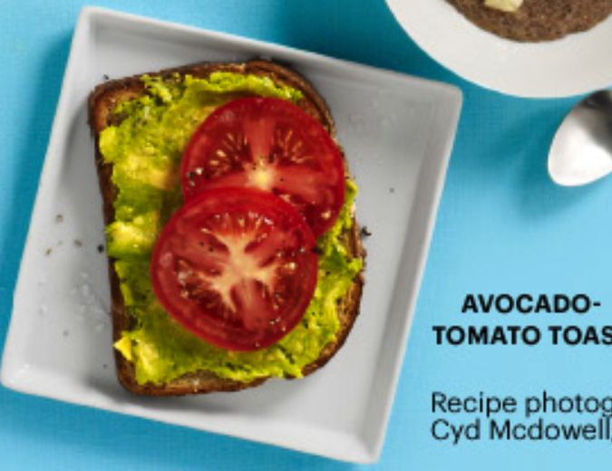 AVOCADO & TOMATO TOAST | Food to Try | Pinterest