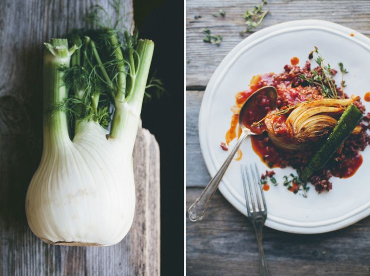 Braised Fennel Wedges with Saffron & Tomato Slightly adapted from ...