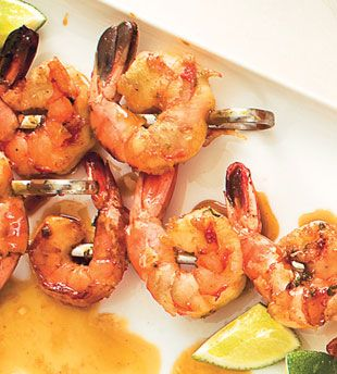 Grilled Shrimp with Molasses-Guava Glaze Perfect for a summer barbecue ...