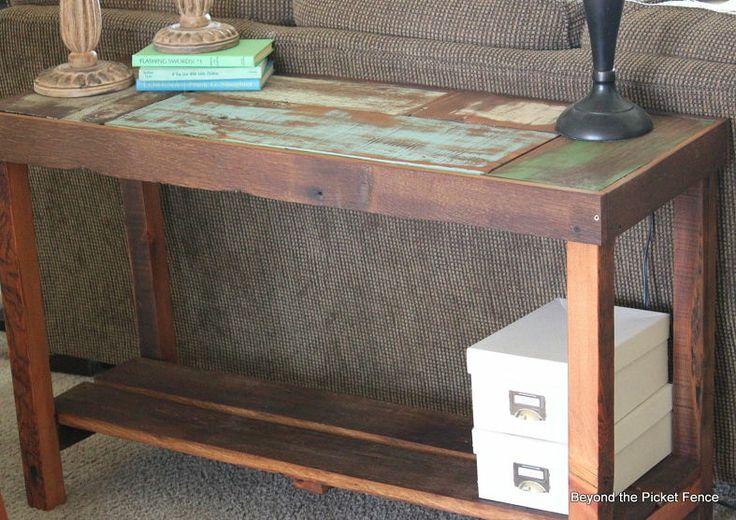 Reclaimed Scrap Wood Sofa Table