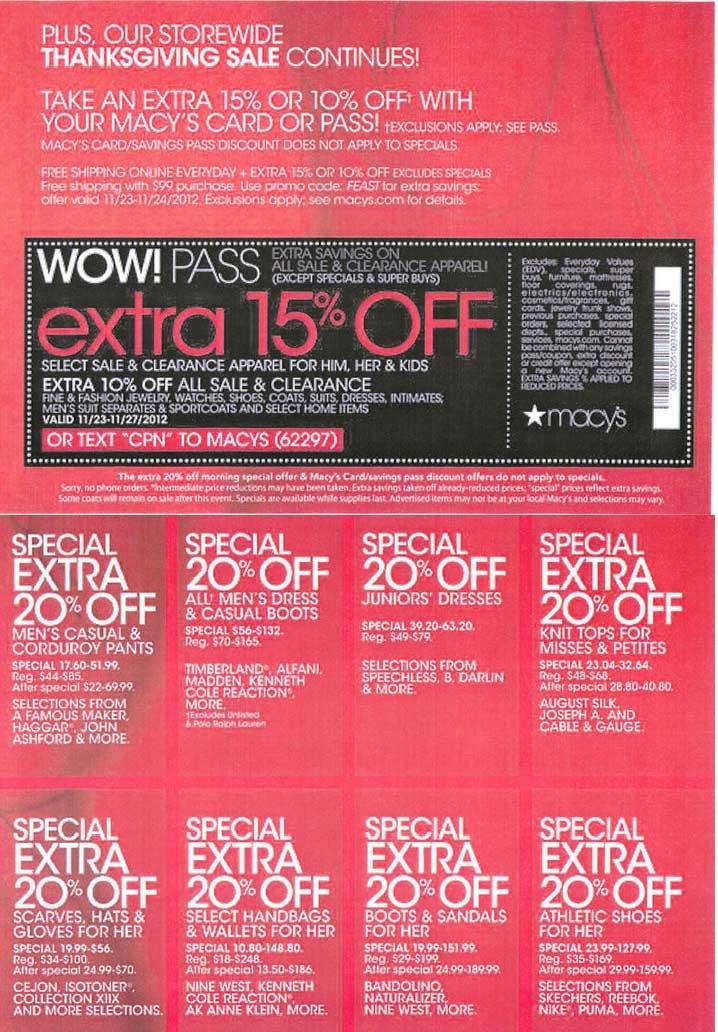 Macys coupon code 2018