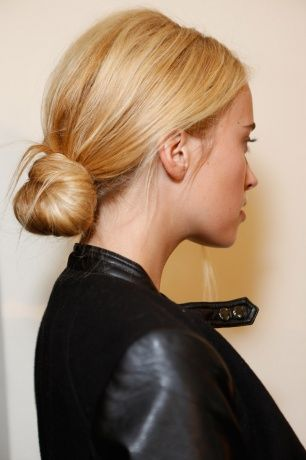 Love this hair style. Low chignon. timeless.