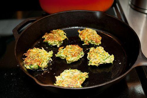 zucchini garlic latkes | skillet food | Pinterest