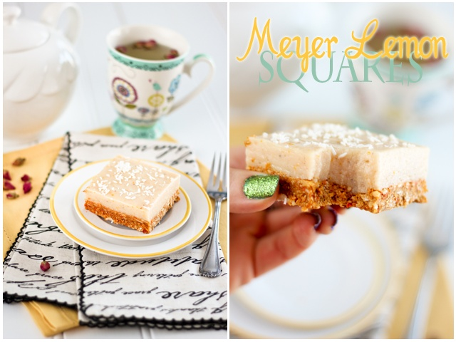 Healthy Meyer Lemon Squares | by Sonia! The Healthy Foodie