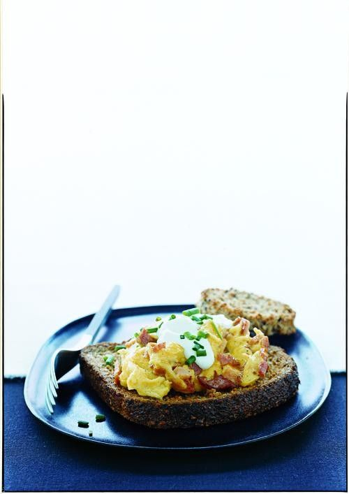 Basic Scrambled Eggs with butter and eggs, but do not scramble first!