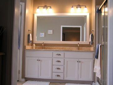 Cabinet refacing traditional bathroom kansas city kitchen
