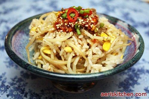 Kongnamul Bap (Korean Beansprout Rice Bowl) Recipe — Dishmaps