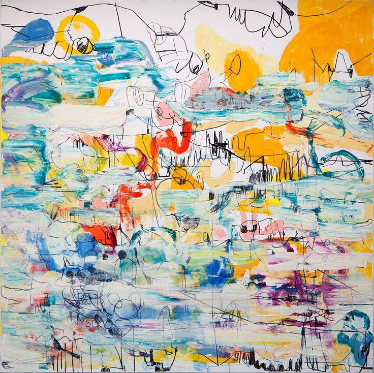 Gossia Zielaskowska, Bright side, 2014; akryl, płótno; 100x100 cm