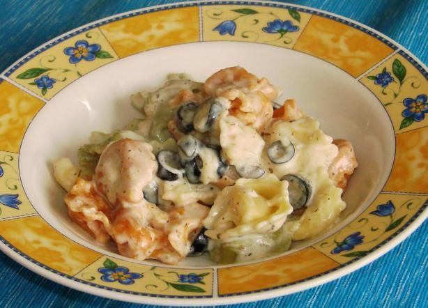 Tortellini With Garlic Cream SauceYUM! This is so so good- and uses ...
