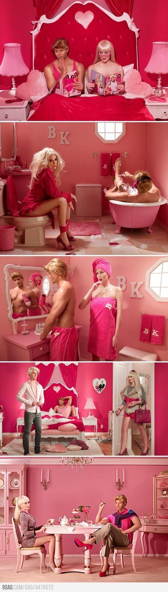 Barbie y Ken en la vida real