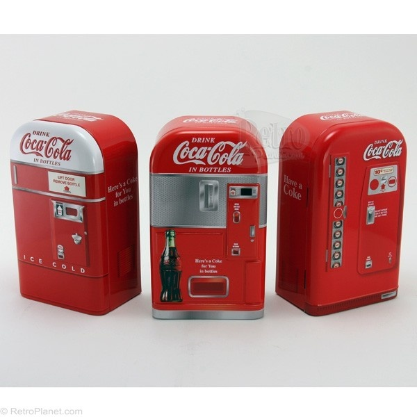 coca cola vending machine bank