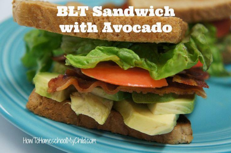 BLT Sandwich with Avocado from HowToHomeschoolMyChild.com