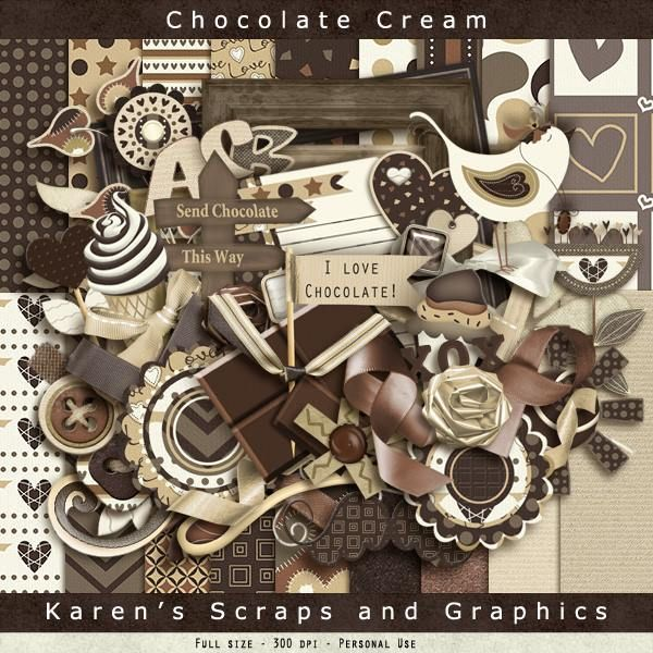 FREE Chocolate Cream Kit from Karen's Scraps and Graphics