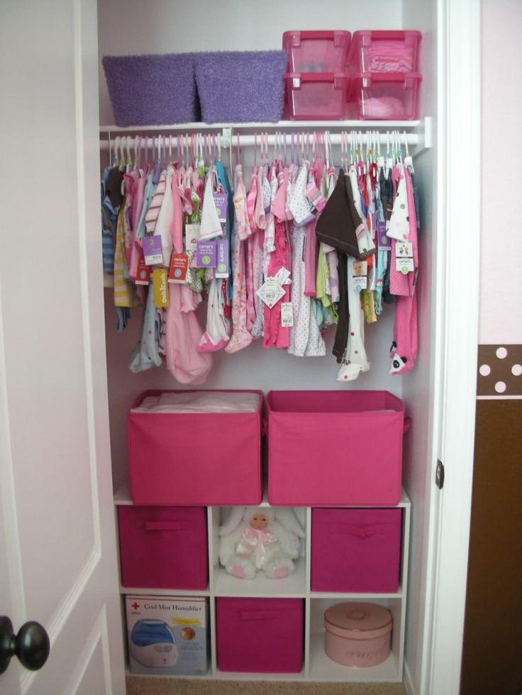Small nursery closet google search baby stuff pinterest for Baby organizer ideas