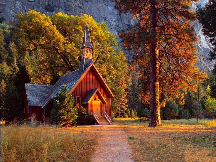 Yosemite chapel in yosemite national park in california this church