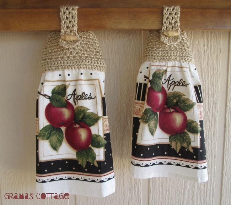 Hand Crocheted Kitchen Towel CRochet wOrld Pinterest