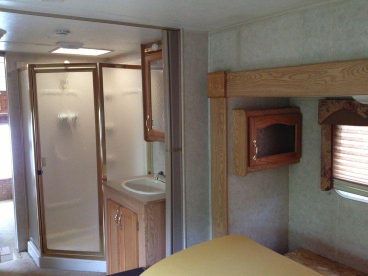 Before RV renovation..shower/sink | RV remodel ideas | Pinterest