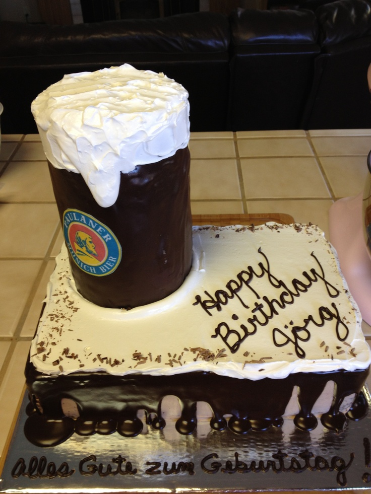 Beer Birthday cake!  60th birthday cake  Pinterest