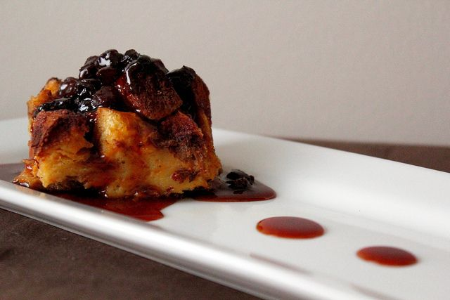 pumpkin bread pudding with caramel rum raisin sauce by pastryaffair ...