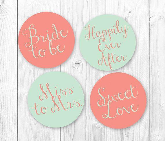 Diy Cupcake Toppers Bridal Shower Wedding Printables By Wisteriadesignstudio