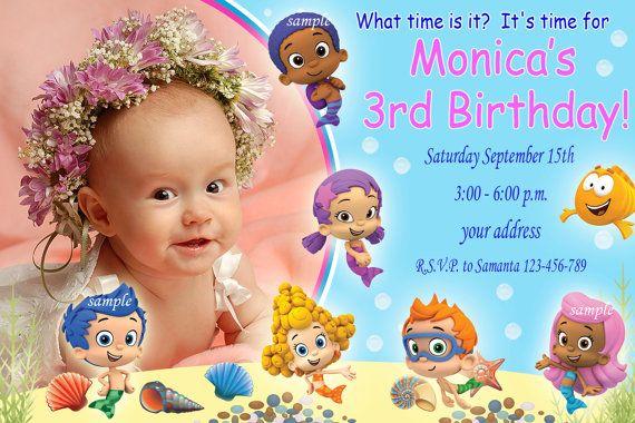 Bubble Guppies Party Invites with good invitation ideas