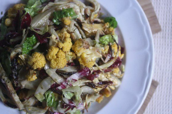 Roasted Cauliflower and Fennel Salad with Endive and Radicchio # ...