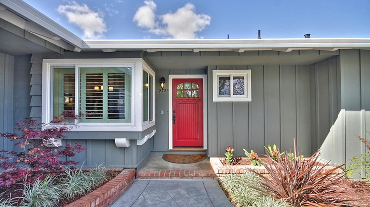 Red Door And Grey Home Homely Inspiration Pinterest