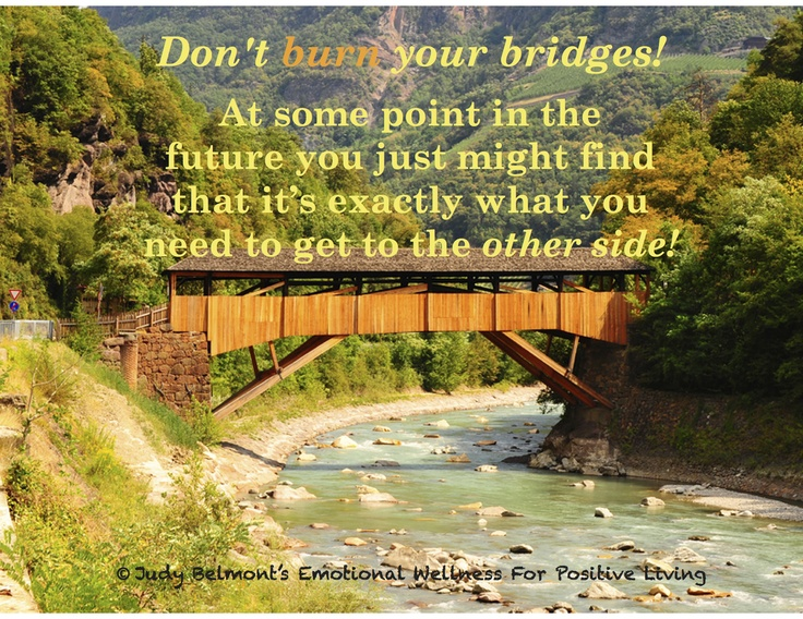dont burn your bridges Attorney-employers should not burn bridges with their paralegals attorney-employers who terminate their paralegals might refuse to: 1) give them a letter of reference and/or 2) give them any reference.
