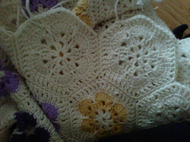 African flower pinwheel detail crochet afghans pinterest
