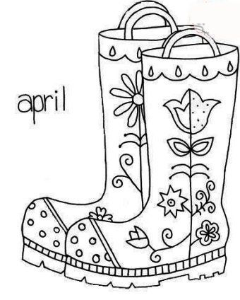 Rain Boots Coloring Page Coloring