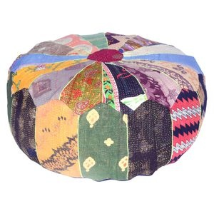 Kantha Patchwork Pouf now featured on Fab.