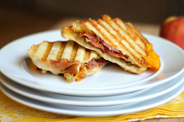 ... apple jam bacon cheddar panini | grilled cheese/panini | Pint