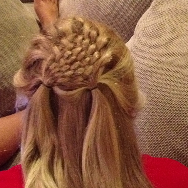 beach curl hairstyles : Basket weave hairstyle Annies Pins Pinterest