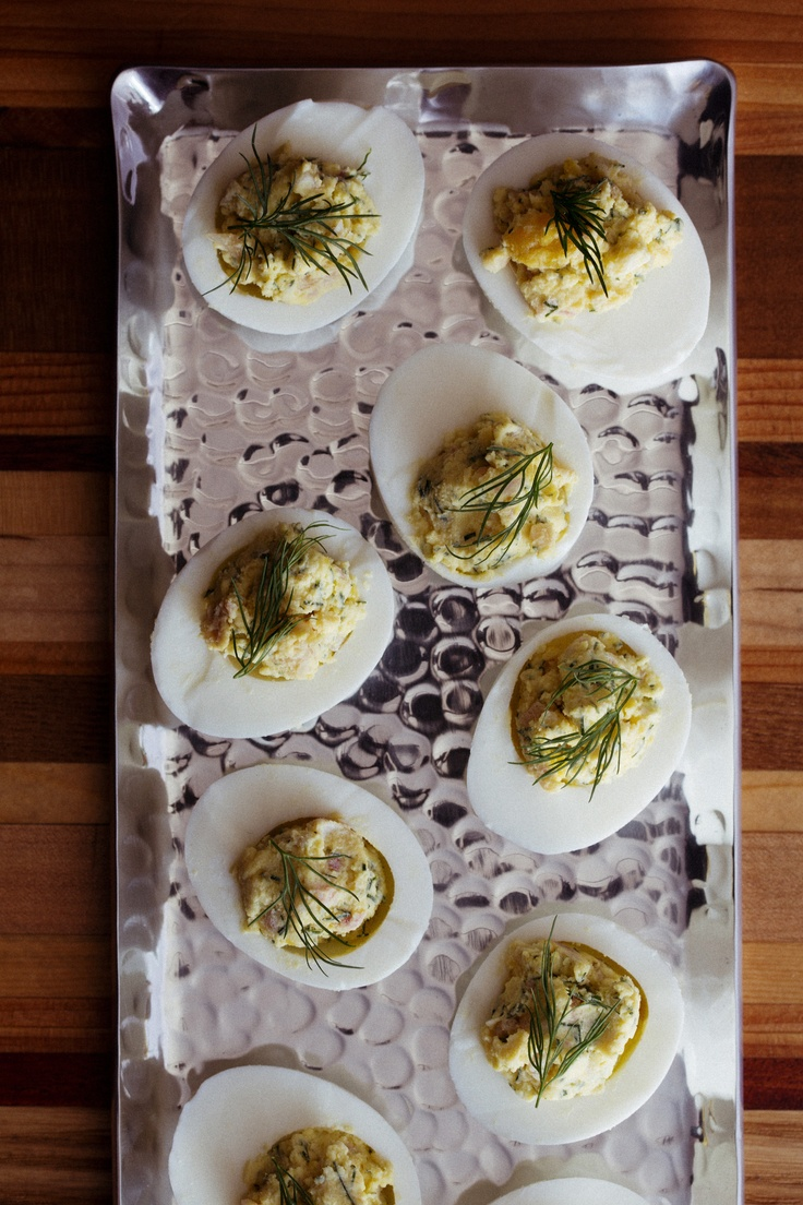 Smoked-Trout Deviled Eggs | Recipe