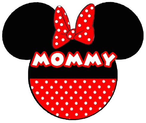 Disney mommy T-shirt logo