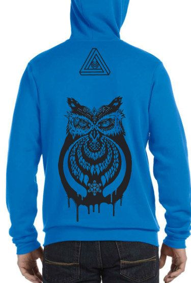 Bassnectar Bassowl Zip up Hoodie by OmnimorphicWear on Etsy, $40.00