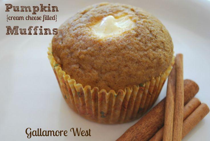 Pumpkin Cream Cheese Filled Muffins   Muffin Madness   Pinterest