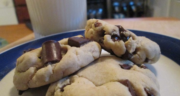 Ooey Gooey Chocolate Chip Cookie-healthy w/ coconut oil, GF flour and ...
