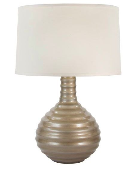 Silver Frescalina Table Lamp || Great for adding some shimmer to your holiday decor this season. cort.com