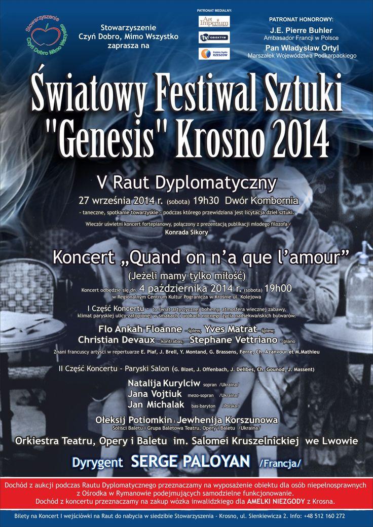 Światowy Festiwal Sztuki Genesis Krosno 2014