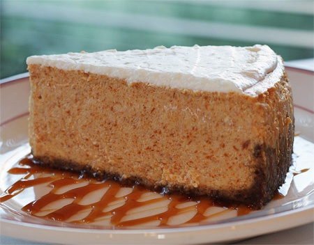 Pumpkin Pie cheese cake with ginger snap crust and a marshmallow sour ...