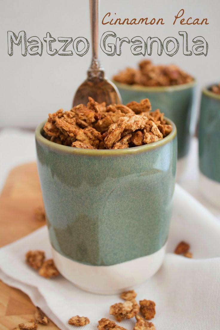Cinnamon Pecan Matzo Granola - Jackie Cooks