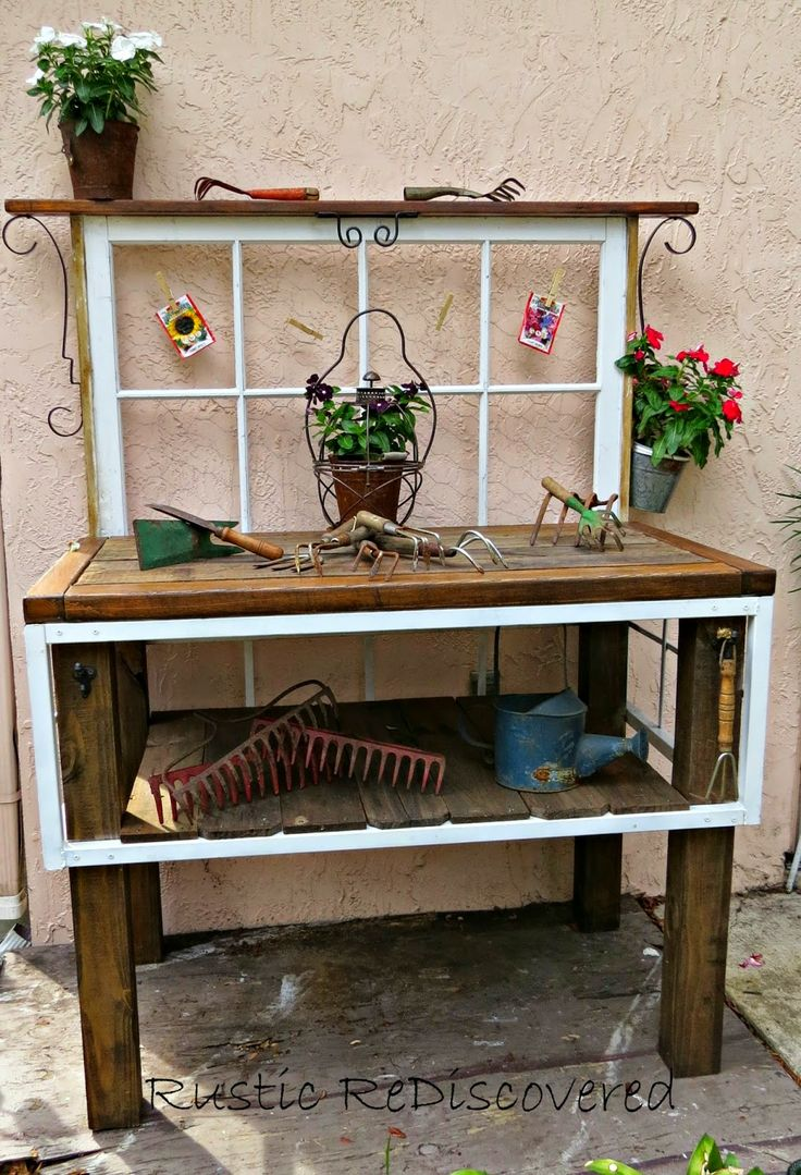 Cute Potting Bench Gardens Sheds Landscapes Oh My
