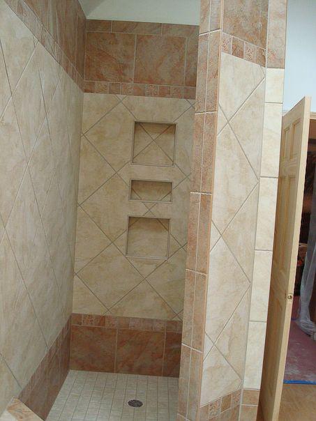 Built In Shower Shelves Bathroom Ideas Pinterest