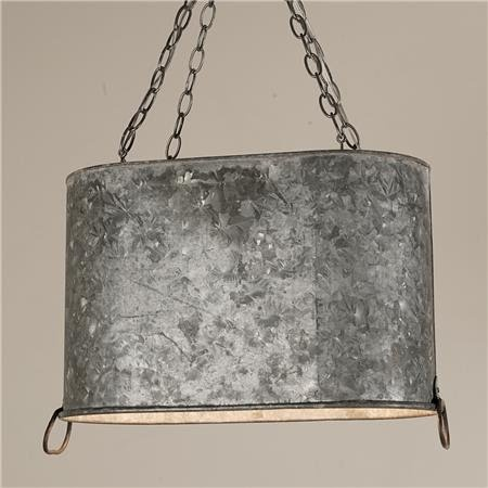 repurposed galvanized bucket chandelier creations
