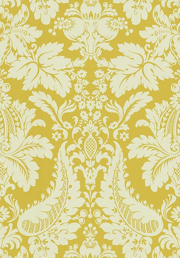 Golden yellow damask wallpaper 566 43950 decor ideas for Yellow wallpaper home decor
