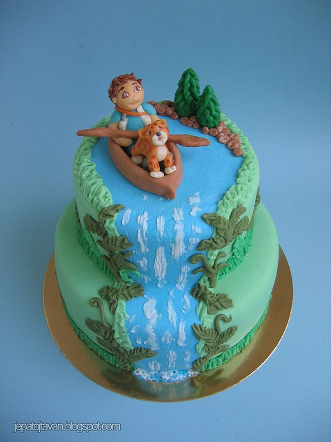 Diego cake by Cakes by Pixie Pie, via Flickr