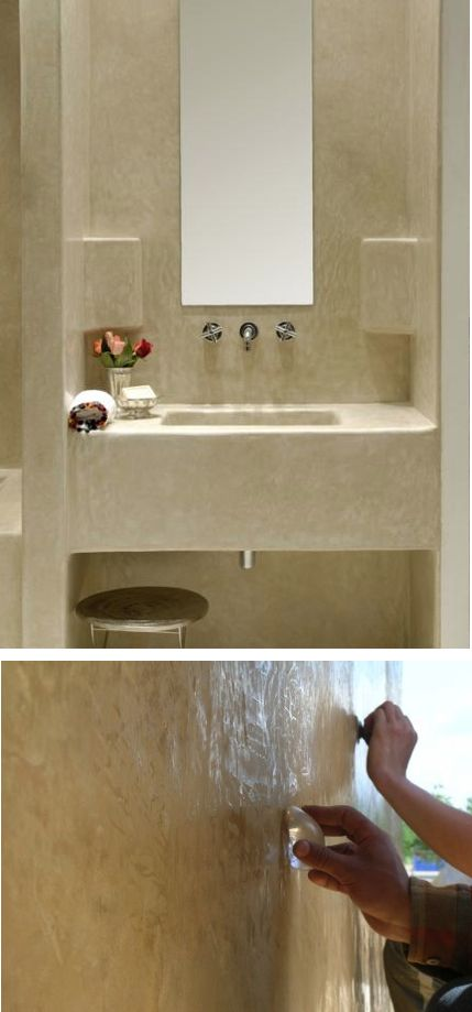 Tadelakt wall finish bathroom ideas pinterest for Finished bathroom ideas